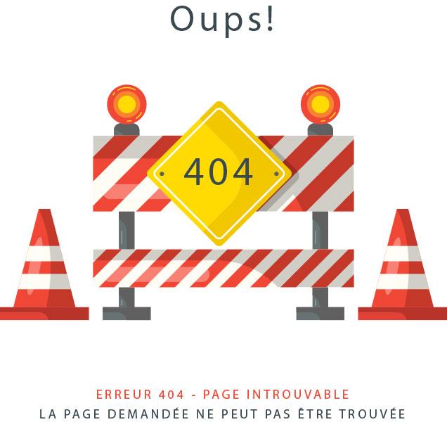 Page introuvable Erreur 404